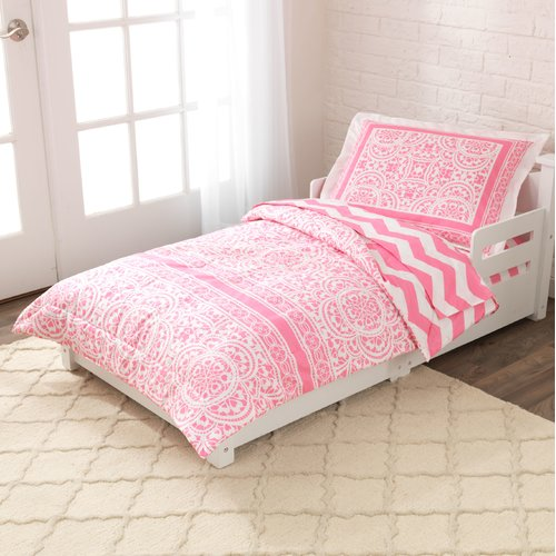 4 Piece Lace And Chevron Comforter Set By Kidkraft