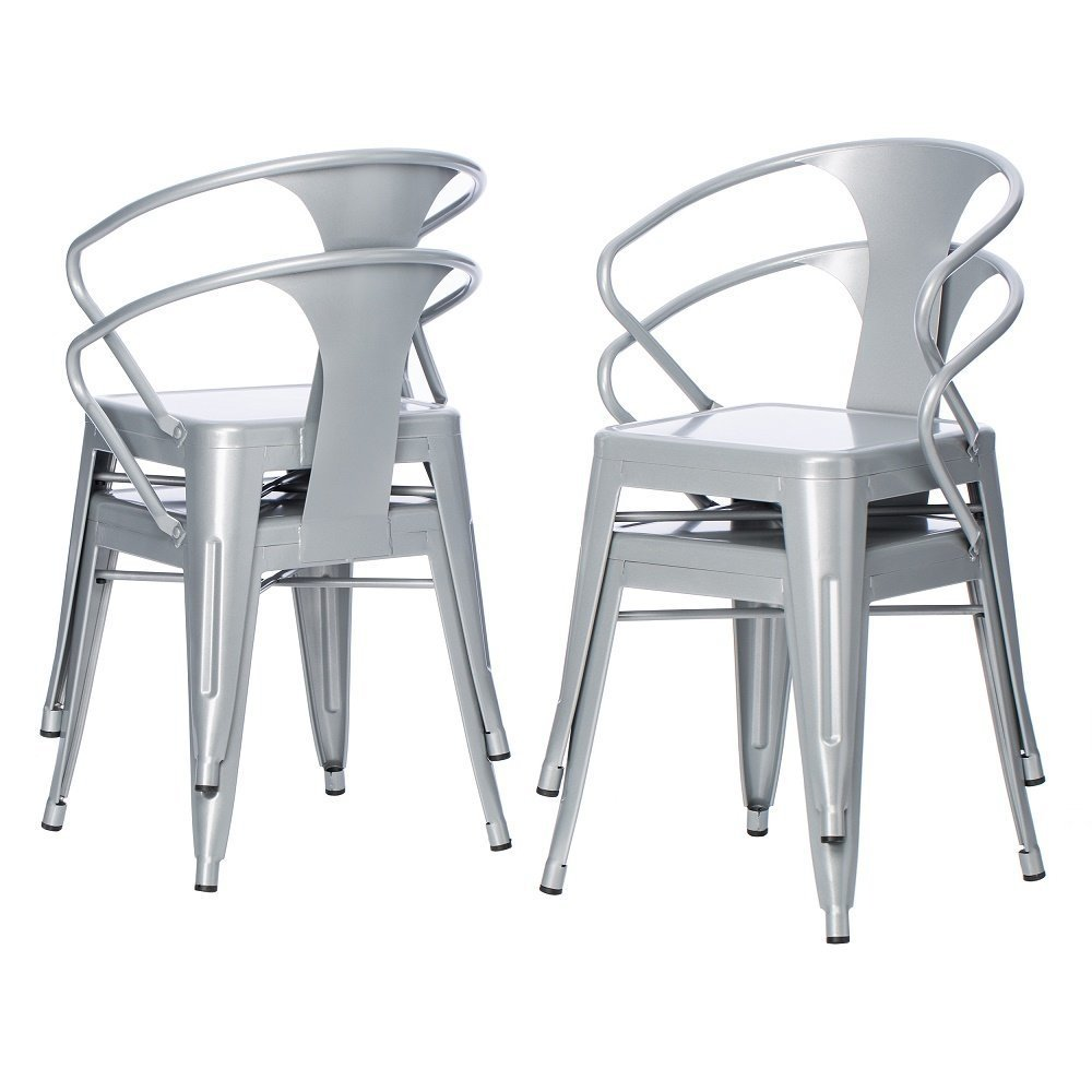 Tabourets Walmart Silver Tabouret 3522 Stacking Chairs Set Of 4