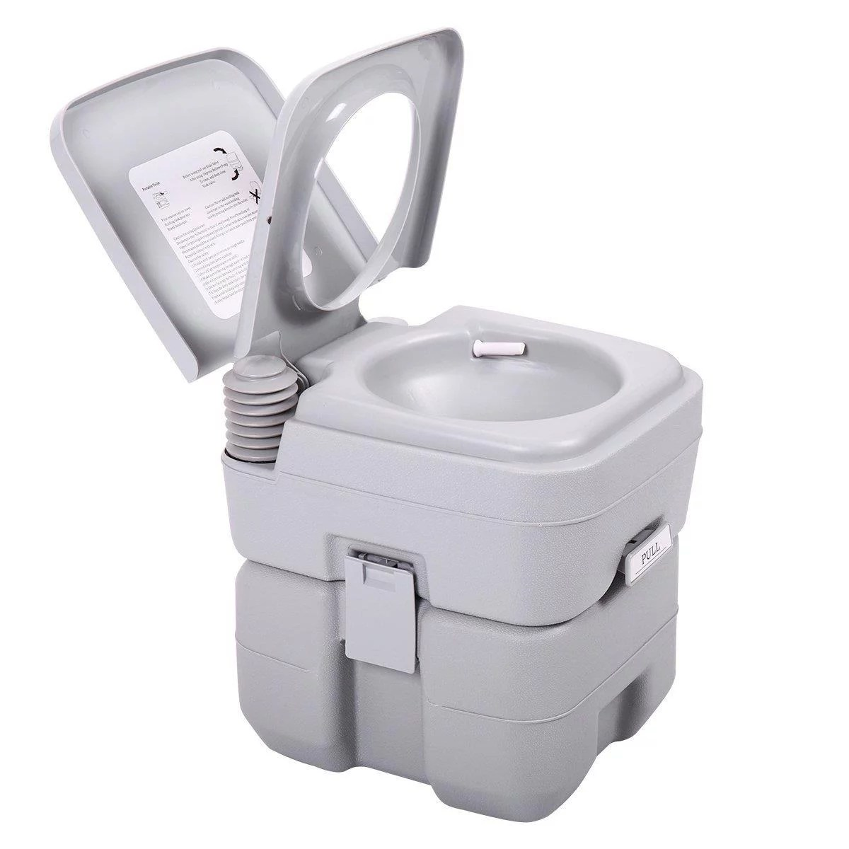 Camping Toilet Ktaxon Portable Camping Toilet 5 Gallon Capacity Leak Proof Compact Porta Potty Up To 50 Flushes Great For Travel Camping Rv Boating Hiking