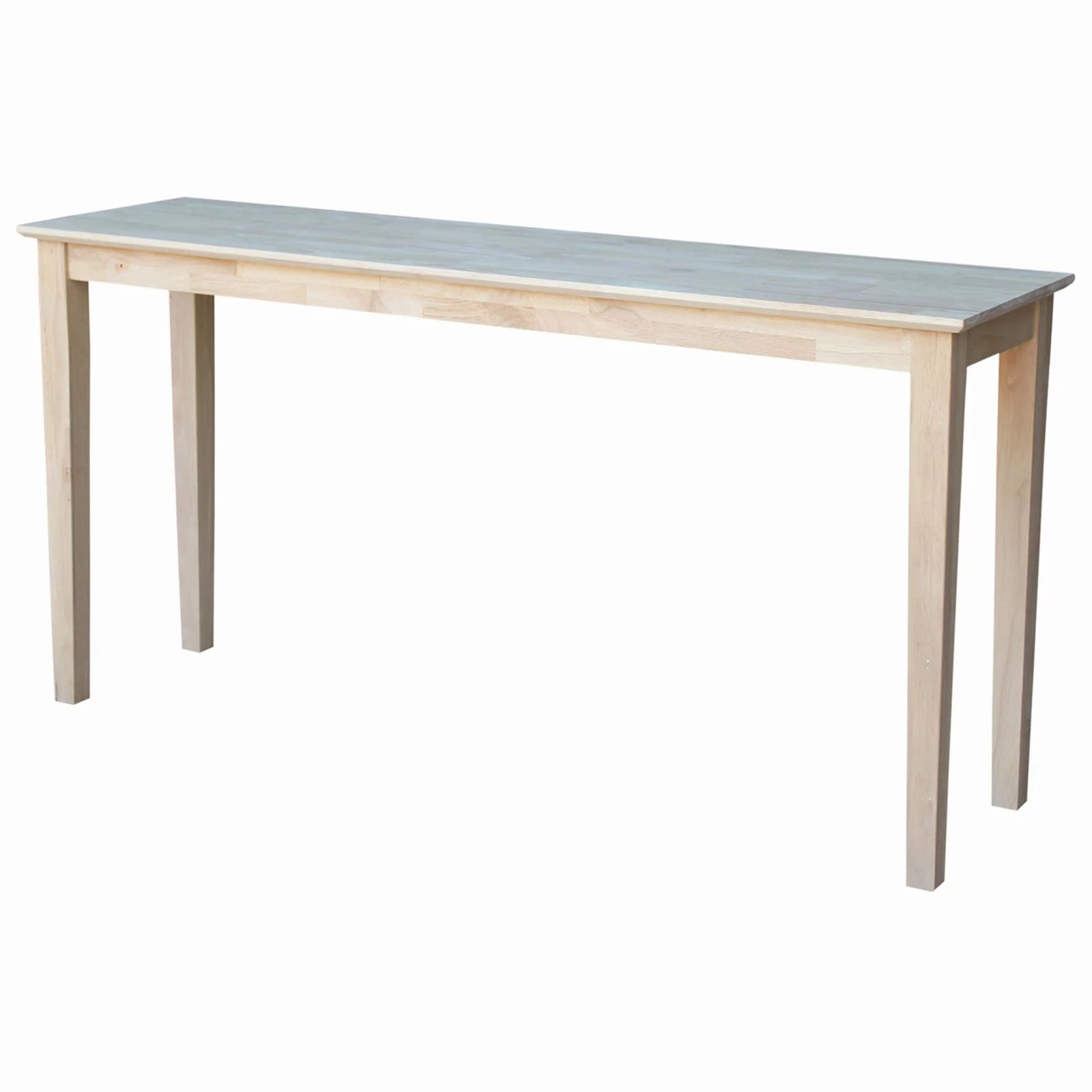Table Unfinished Wood International Concepts Shaker Console Table Unfinished