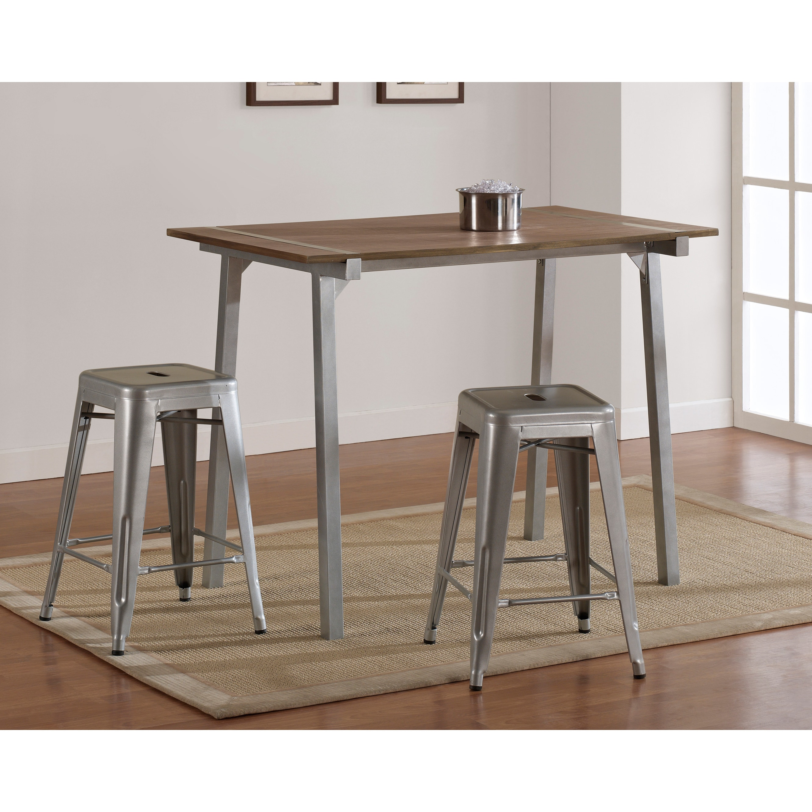 Tabourets Walmart Tabouret Metal And Wood Table
