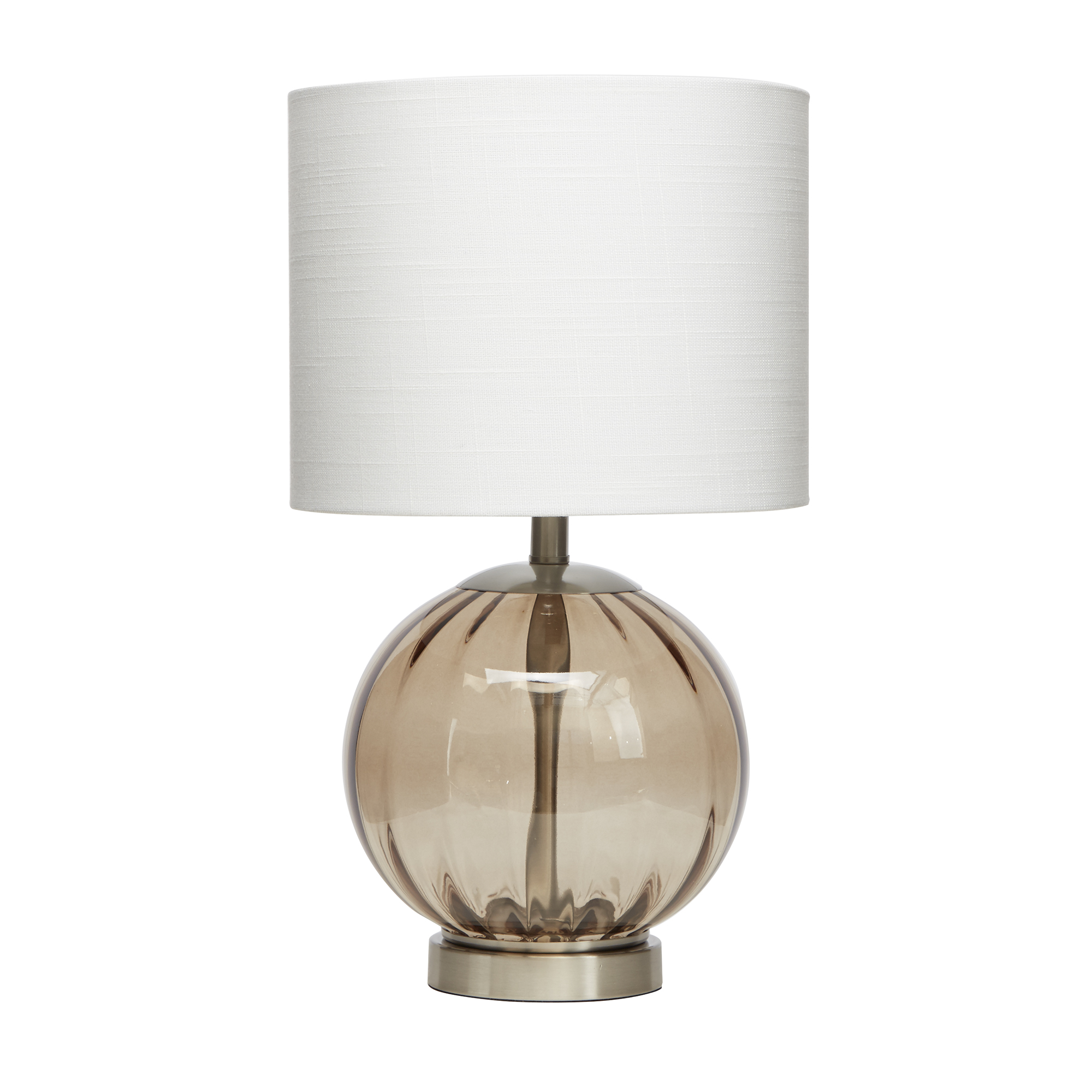 Table Lamp Base Better Homes Gardens Smoke Glass Sphere Table Lamp Brushed Nickel Finish