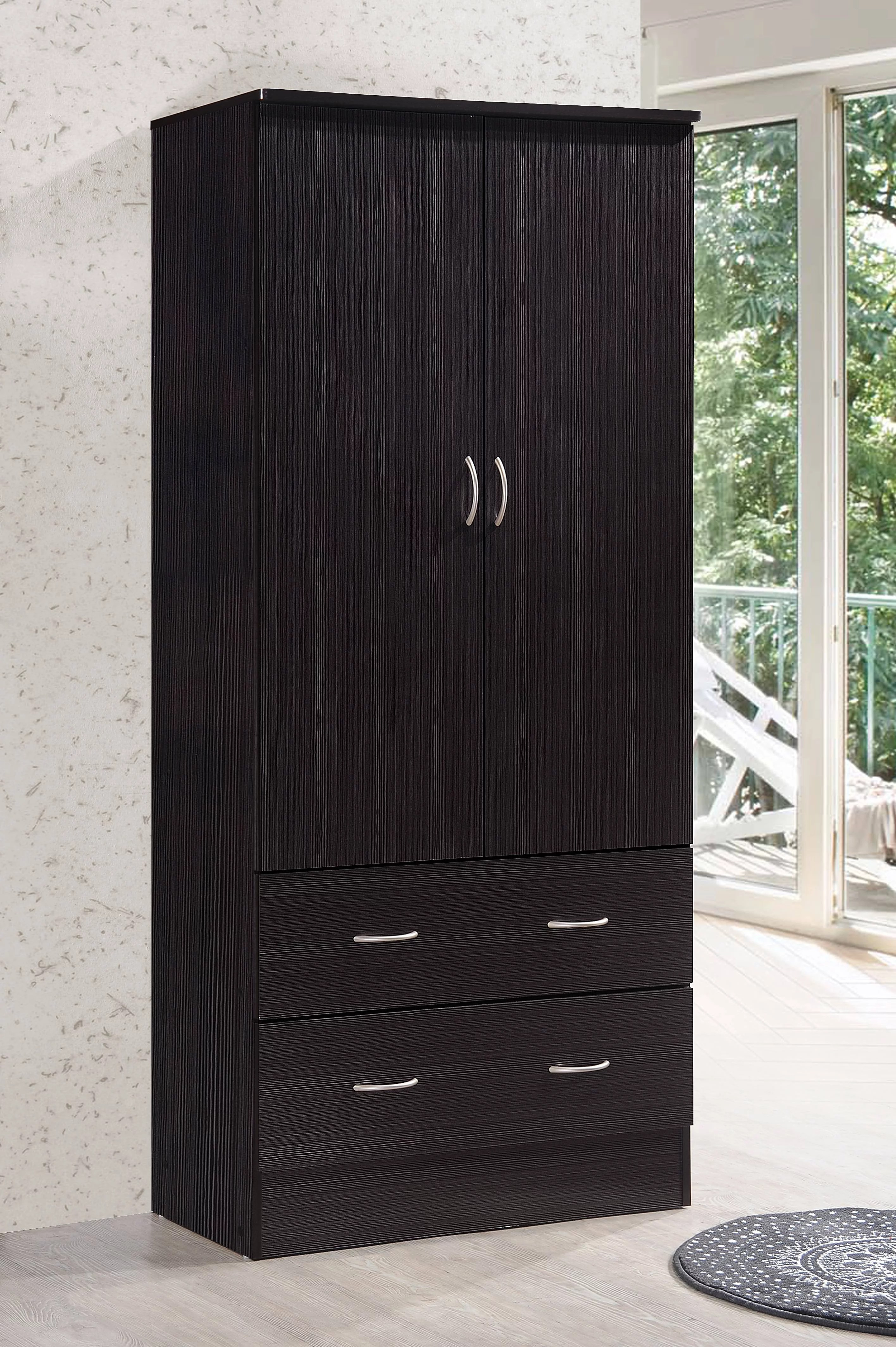 Cabinet Oak Furniture Details About Armoire Wardrobe Closet Bedroom Clothes Organizer Storage Cabinet Wood Furniture