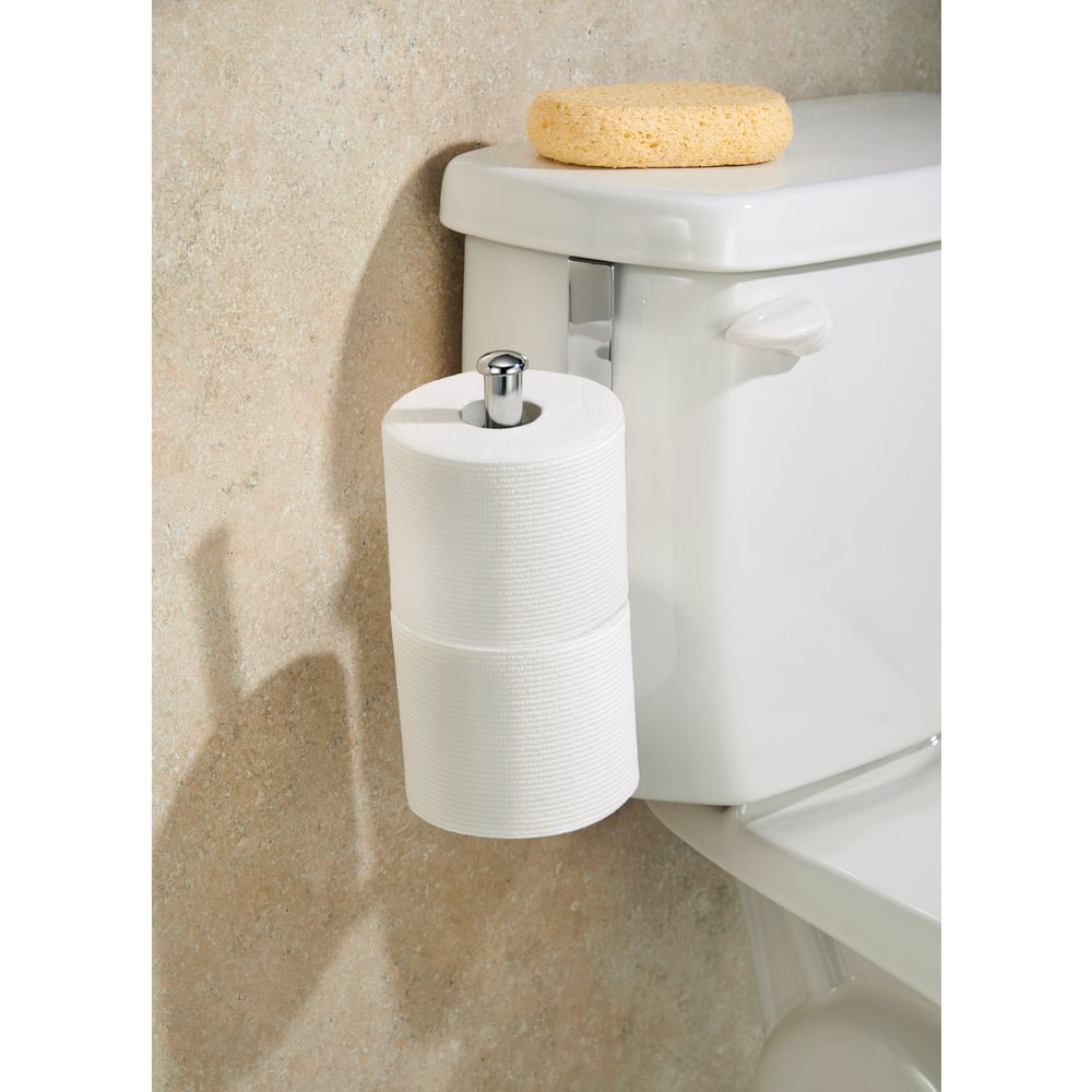 Covered Toilet Paper Storage Interdesign Classico Toilet Paper Holder For Bathroom Storage Over The Tank Vertical Chrome