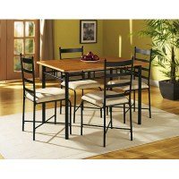 Metal And Wood Dining Set
