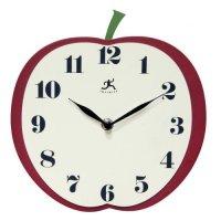 Infinity Instruments Apple Slice 9-Inch Wide Wall Clock ...
