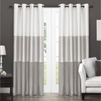 Exclusive Home Chateau Striped Faux Silk Window Curtain ...