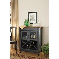 Better Homes and Gardens Autumn Lane Wine Cabinet, Black ...