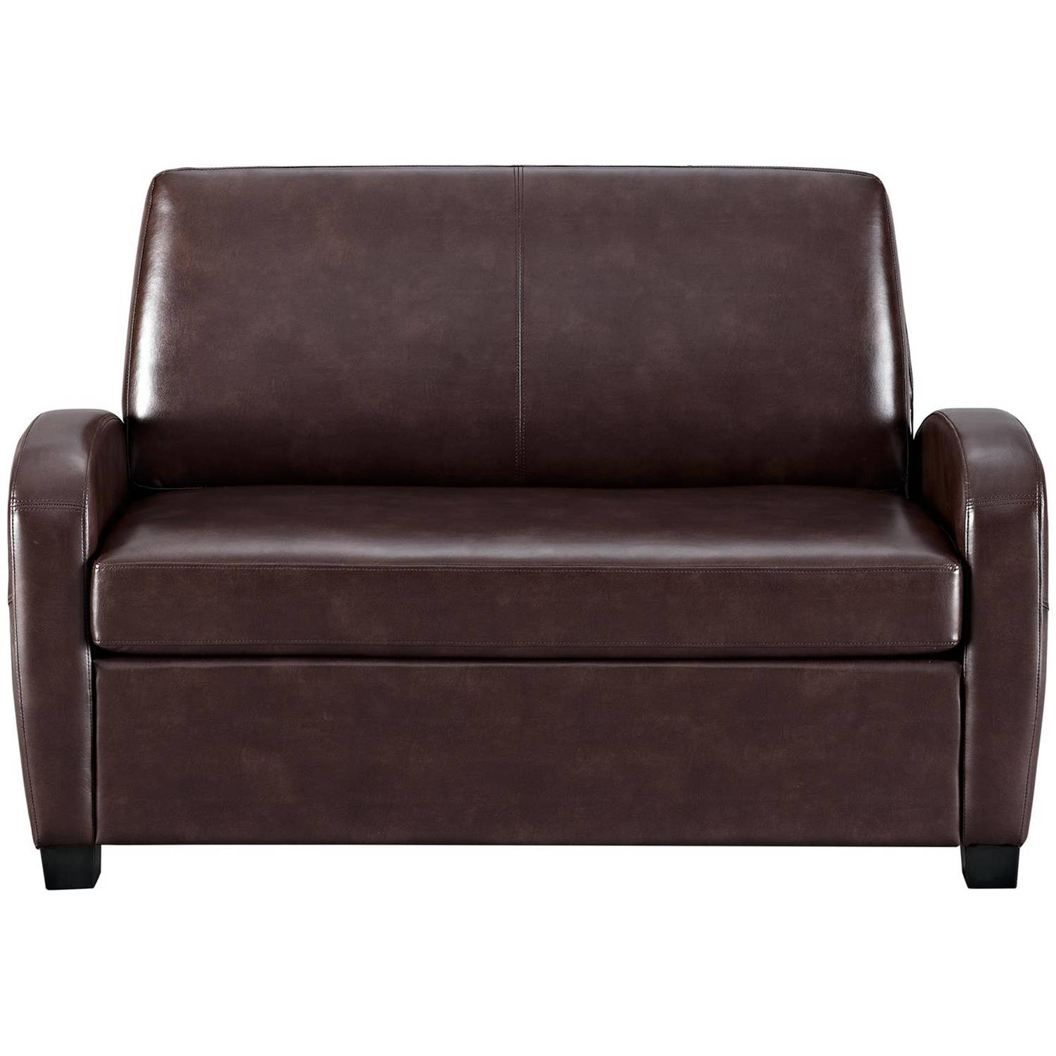 Leather Loveseat Leather Loveseat Sofa Bed Mainstays Sofa Sleeper Black