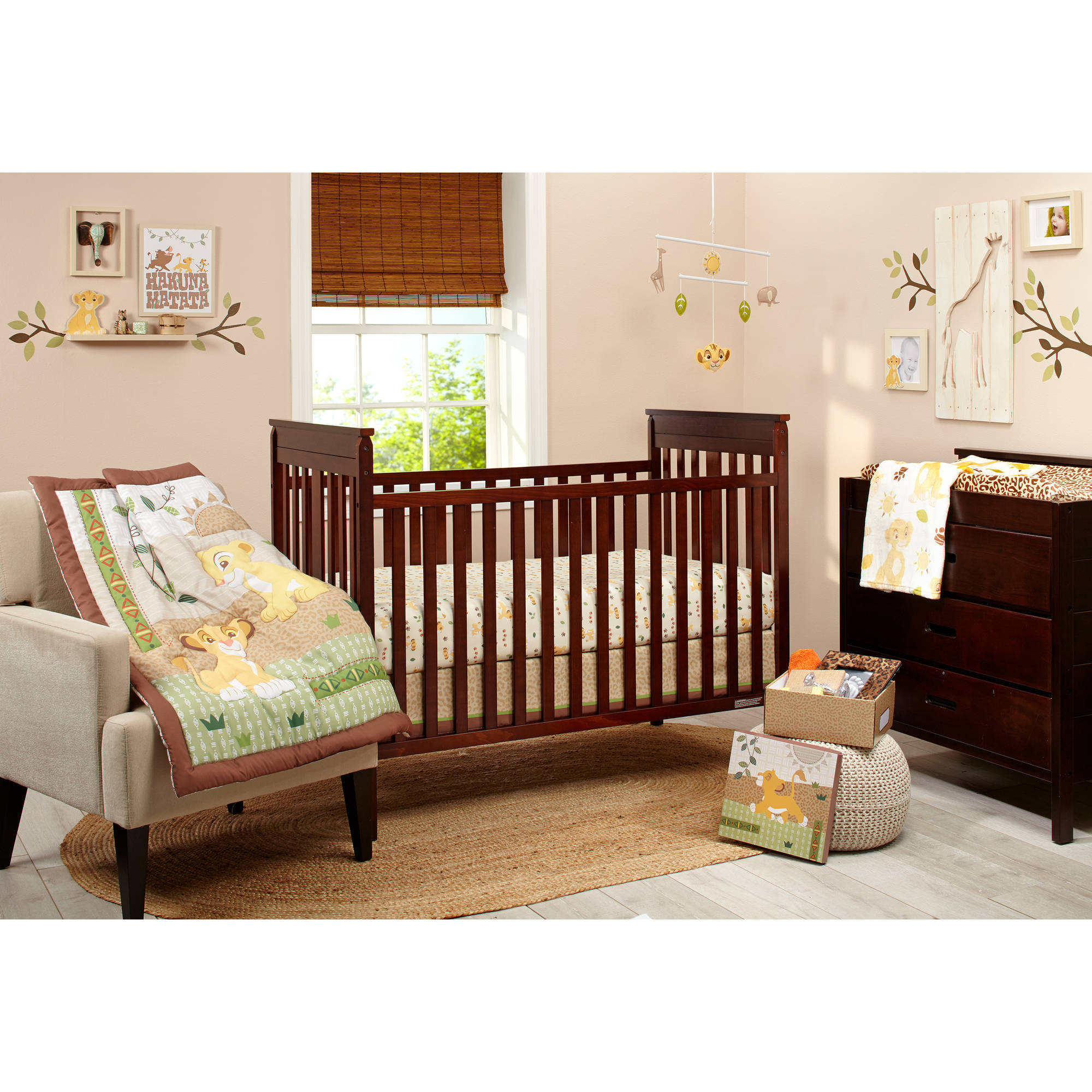 Full Crib Bedding Sets Lion King Under The Sun 4 Piece Crib Bedding Set
