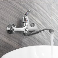 Single-Lever Wall Mount Faucet Wall Mount Kitchen Bathroom ...