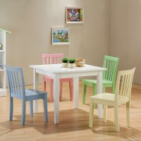 Coaster Youth Table and Chair Set, 5-Piece, Pastel ...