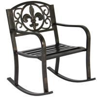 Patio Metal Rocking Chair Porch Seat Deck Outdoor Backyard ...