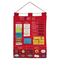 Almas Designs Children's Calendar - Red Wall Chart - Early ...