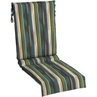 Mainstays Sling Chair Outdoor Cushion, Green Blue Stripe ...