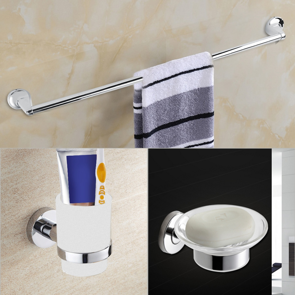 Toilet Accessories Anauto 6pcs Wall Mount Bathroom Toilet Accessory Set Towel Rack Toothbrush Soap Paper Holder Bathroom Accessories Bathroom Tool