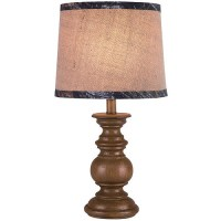 Mossy Oak Turned Wood-Look Accent Lamp with Shade ...