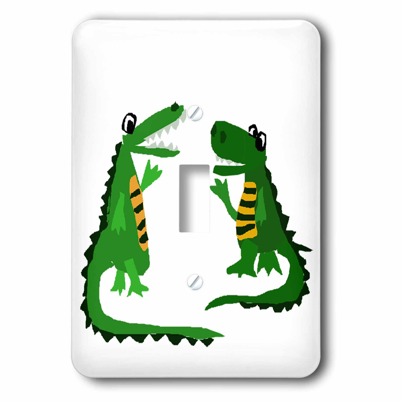Toggler Alligator 3drose Funny Crocodile Talking To Alligator Double Toggle Switch