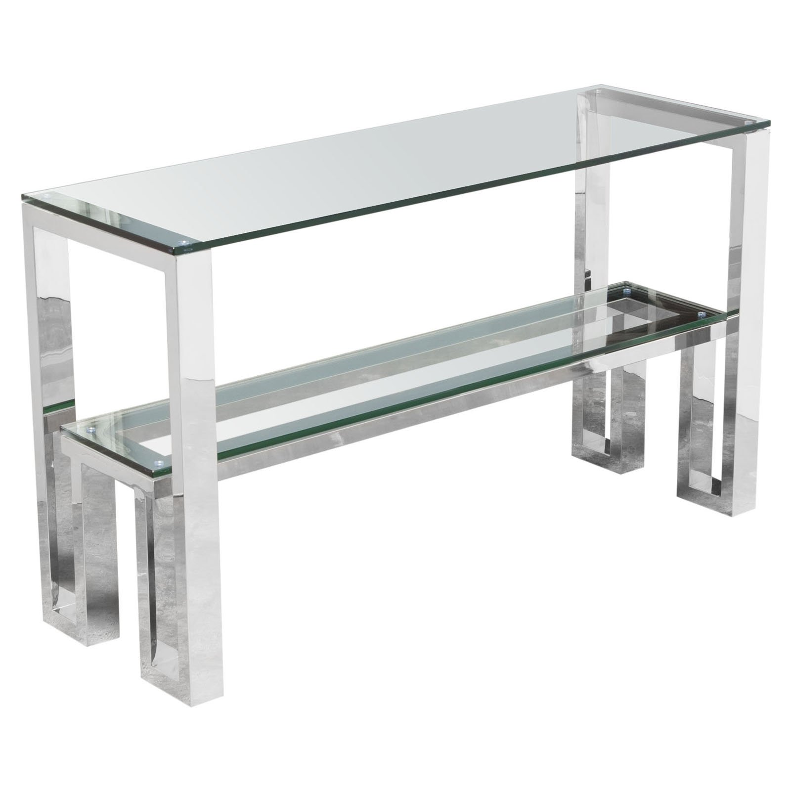 Glass Top Console Table Diamond Sofa Carlsbad Glass Top Console Table