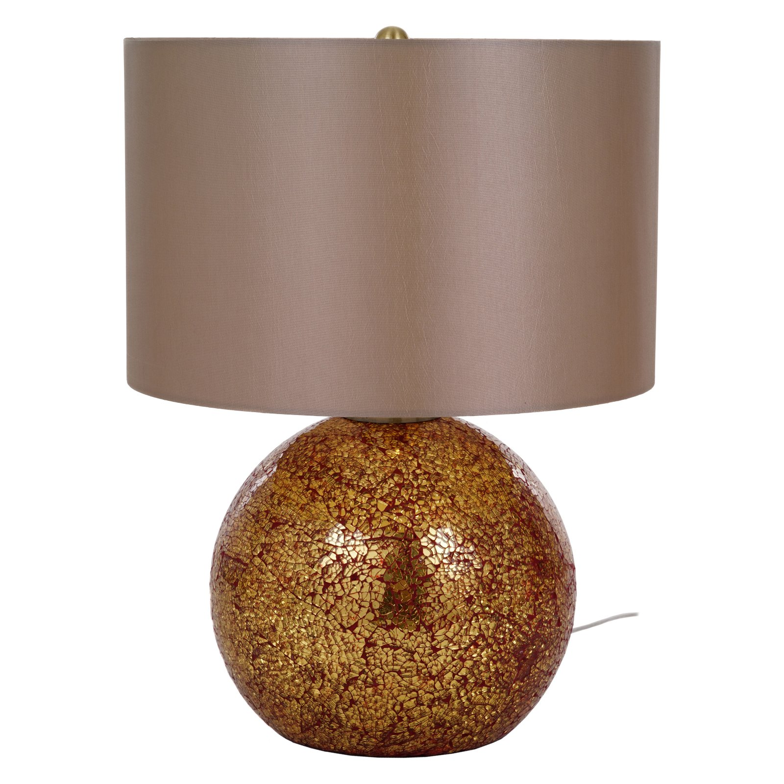 Glass Crackle Lamp Cresswell Lighting Stacey 20 5 In Red Crackle Glass Table Lamp