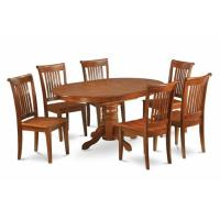5PC Oval Dining Set with Single Pedestal with 18 in. leaf ...
