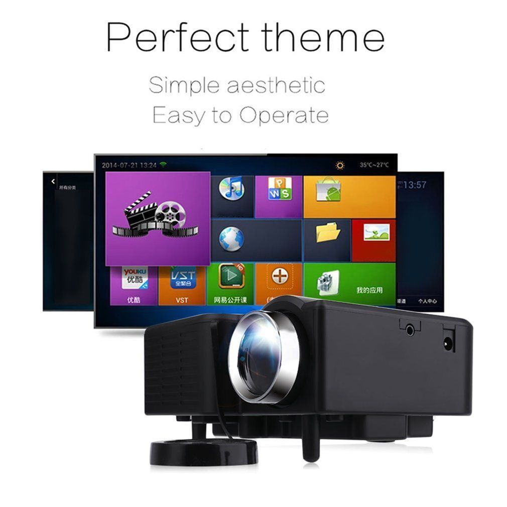 Tv Digitale Pro Portable Mini Digitale Led 3d Vga Hdmi Tv Home Theater Movie
