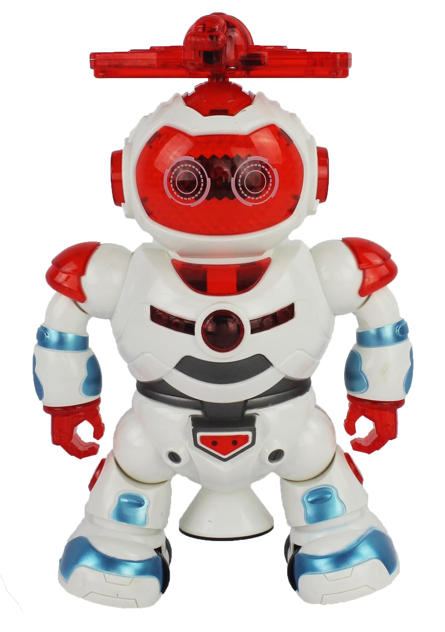 Children Robot Dancing Action Toy Robot Figure W Music Colorful Rotating Lights Dancing Action 360 Degree Spins Great Birthday Present For Kids Children