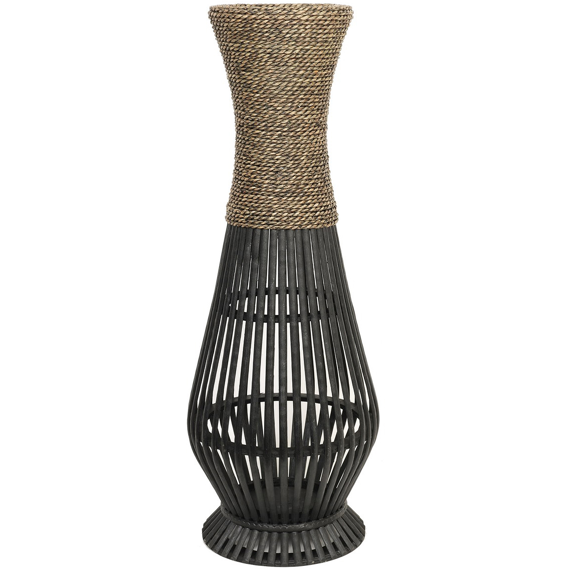 Home Vases Hosley Natural Bamboo Seagrass Vase Home Decor Flower Tall