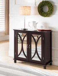 Espresso Wood Contemporary Accent Entryway Display Console ...