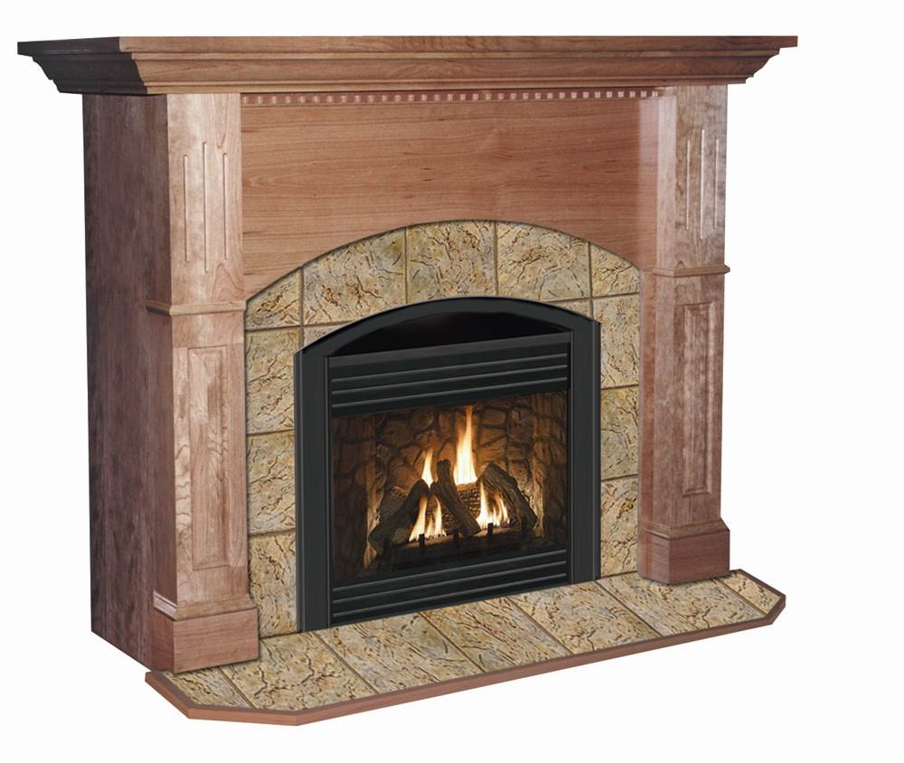 Cherry Fireplace Mantels Manchester Arched Flush Fireplace Mantel In Natural Cherry Finish Natural Cherry 40 In X 48 In