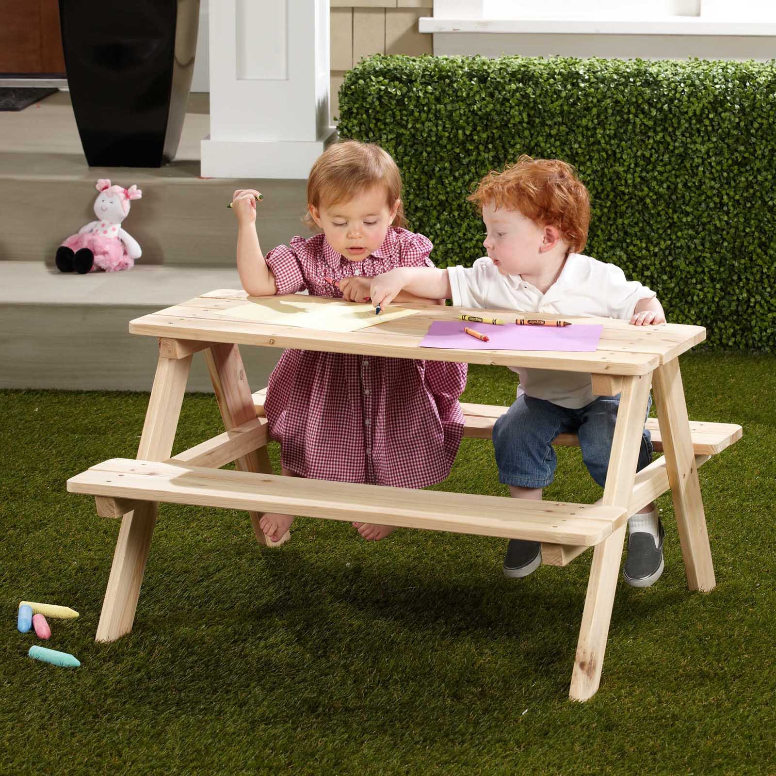 Northbeam Kids Wooden Picnic Table Walmartcom