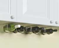 Under Cabinet 6 Wine Bottle Rack , Stainless Steel Metal ...