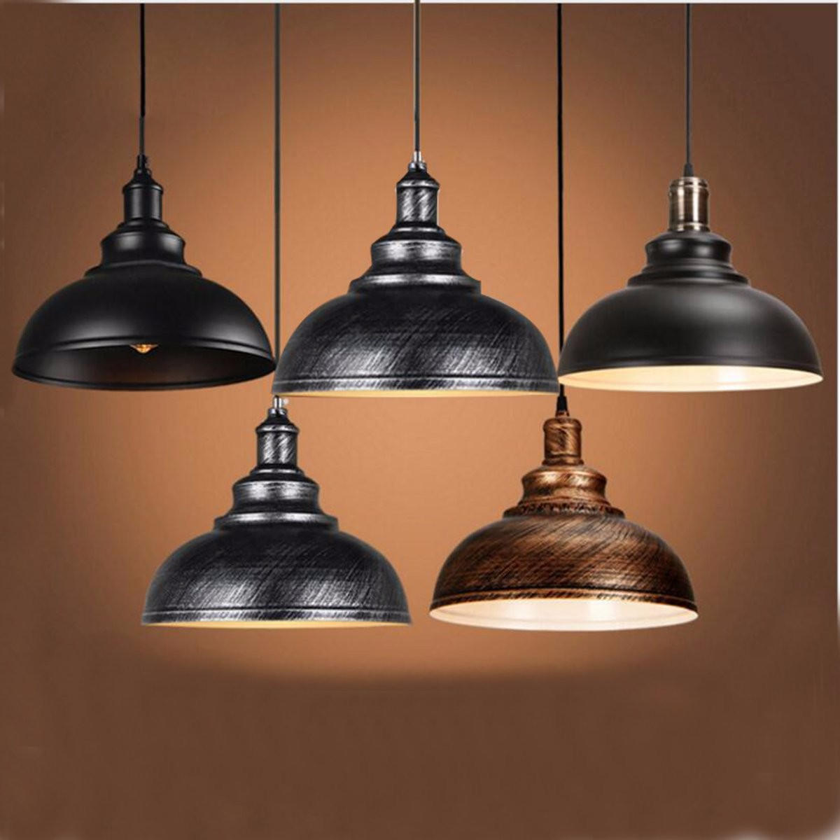 Hanging Lamp Vintage Retro Ceiling Light Chandelier Pendant Hanging Lamp Lampshade Home Fixture Lamp For Kitchen Bedroom Living Room Restaurant Corridor Coffee