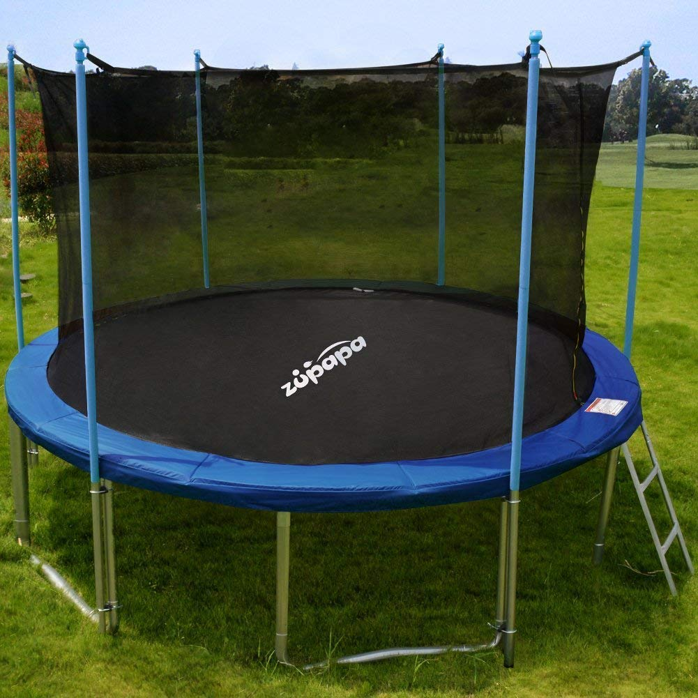 Trampolin 3 5 Meter Zupapa 15ft Tuv Certified Trampoline With Enclosure Padding Ladder