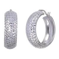 Sterling Silver Hoop Earrings (3/4 Inch) - Walmart.com