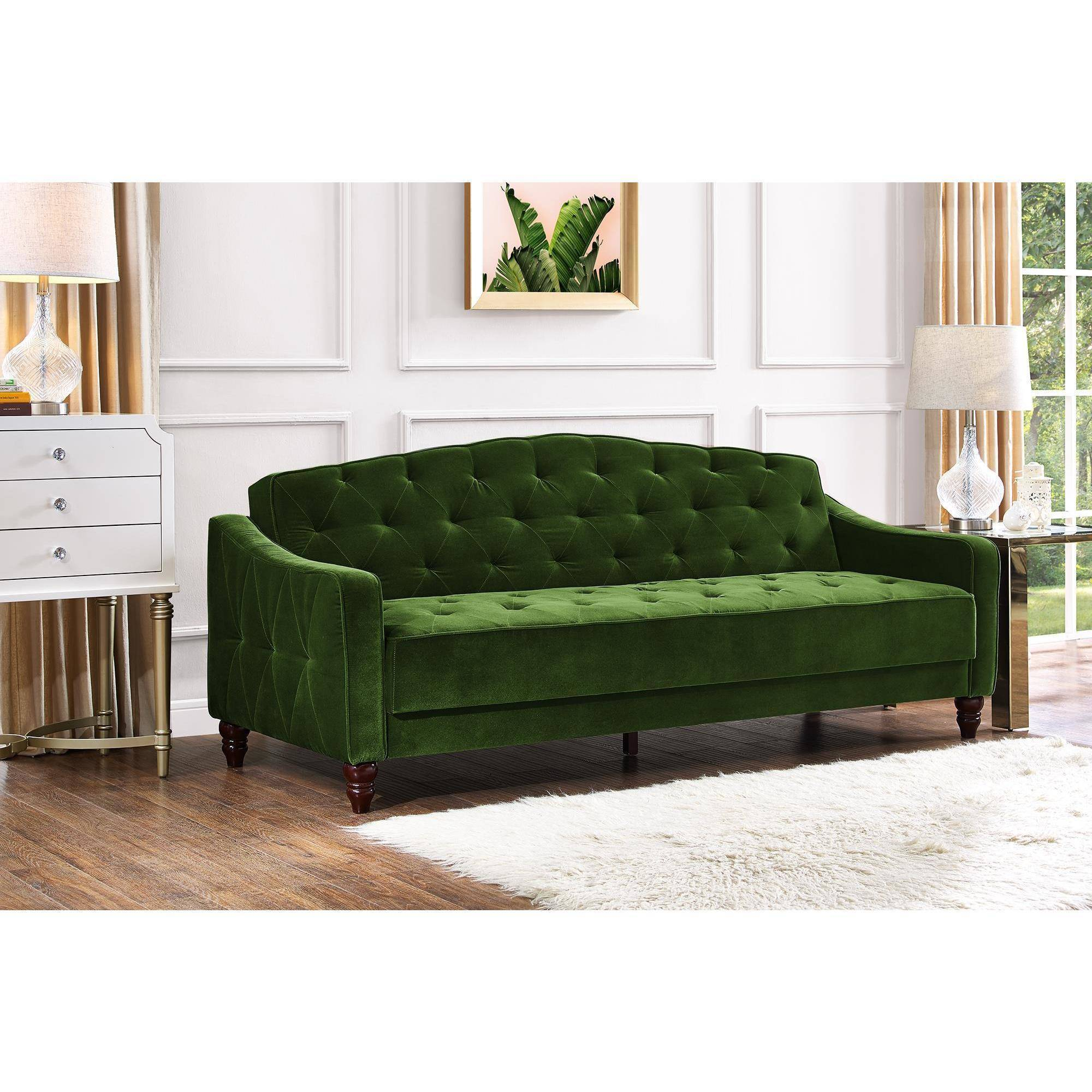 Vintage Couch Novogratz Vintage Tufted Sofa Sleeper Ii Multiple Colors