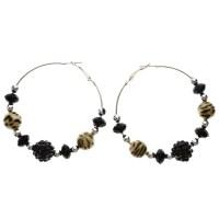 Mi Amore - Mi Amore Cheetah Print Hoop-Earrings Black ...