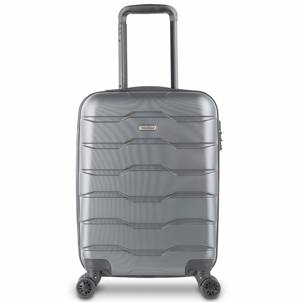 Lightweight Cabin Luggage Gray Carry On Hand Luggage Lightweight Hard Shell Travel Suitcase With 4 Wheel Spinner And Tsa Lock