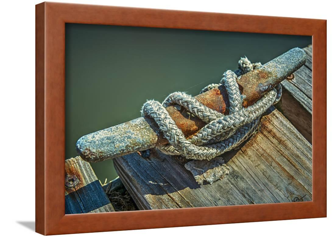 Hammock Chair Rona Close Up Of Boat Cleat And Rope Framed Print Wall Art By Rona Schwarz