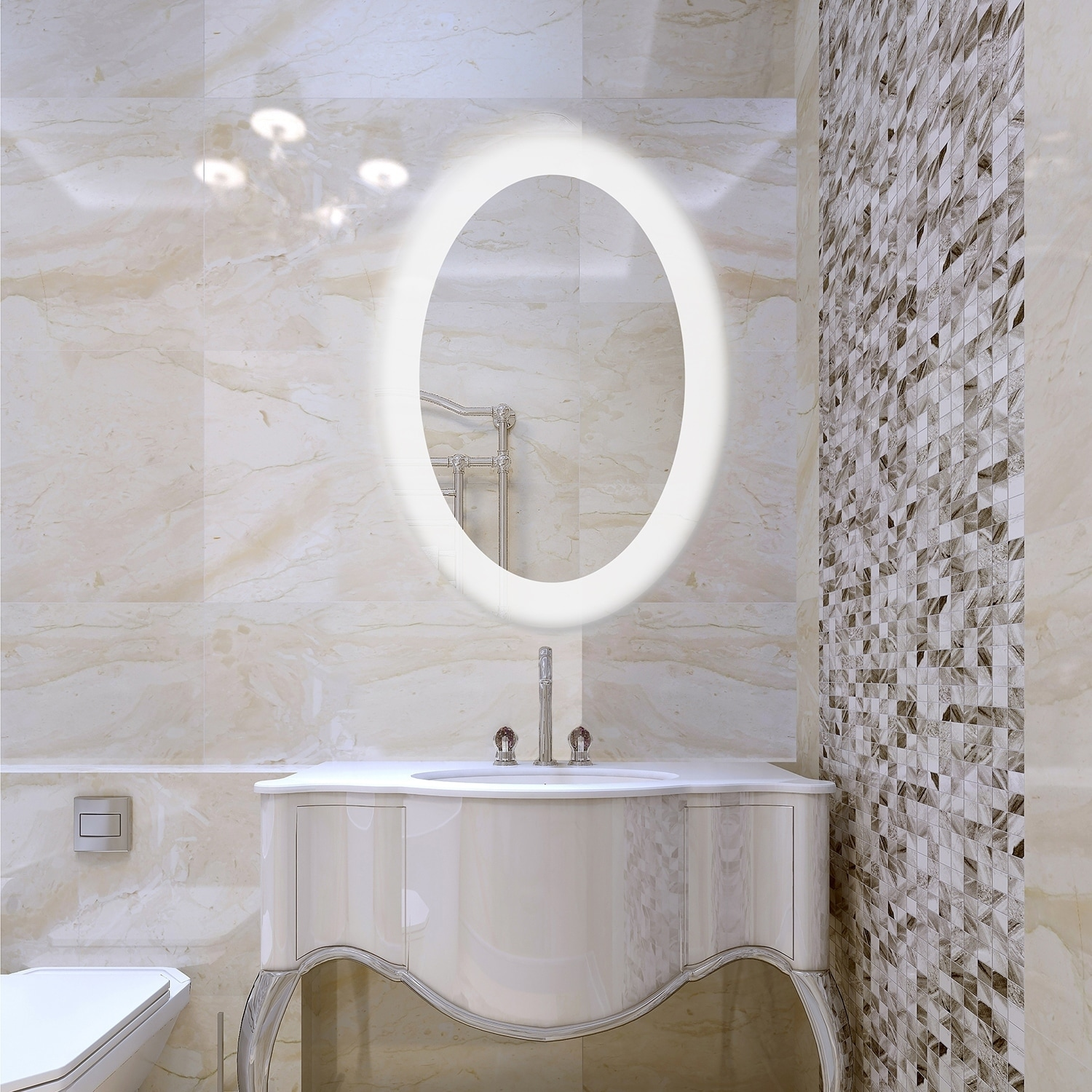 Dyconn Faucet Royal Wall Mounted Vanity Bathroom Led Backlit Mirror Clear Walmart Com