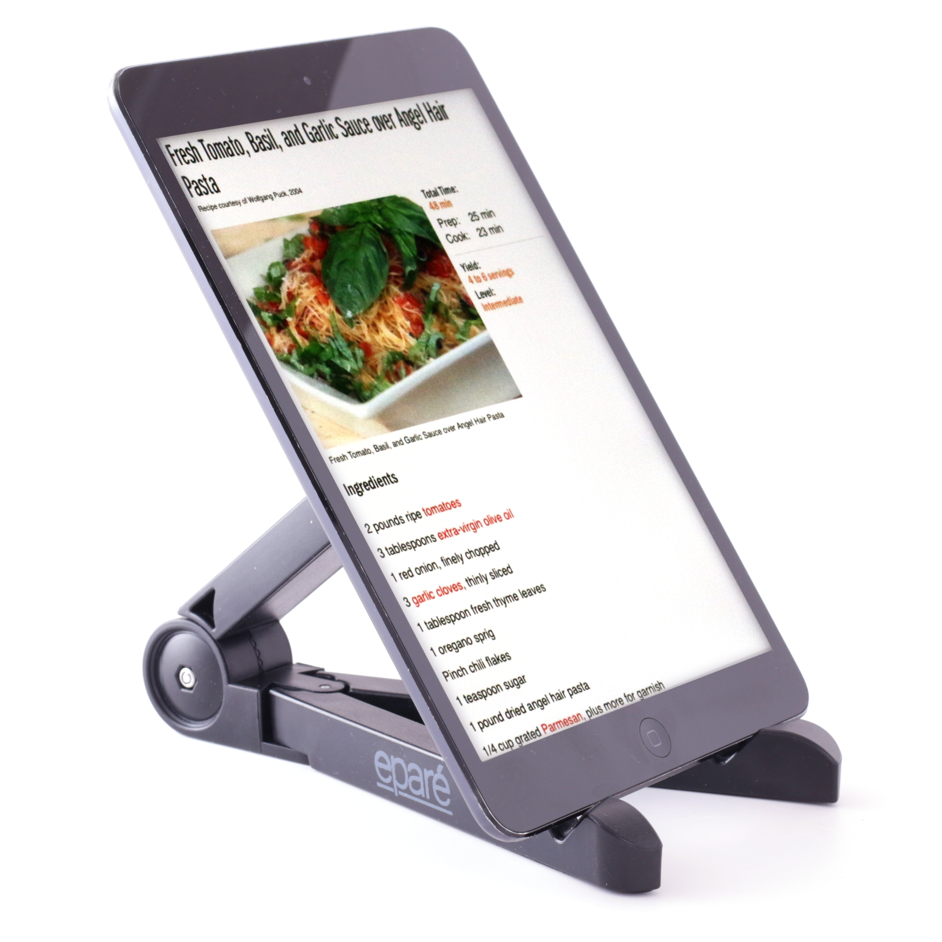 Epare Adjustable Tablet Stand And Cookbook Recipe Book