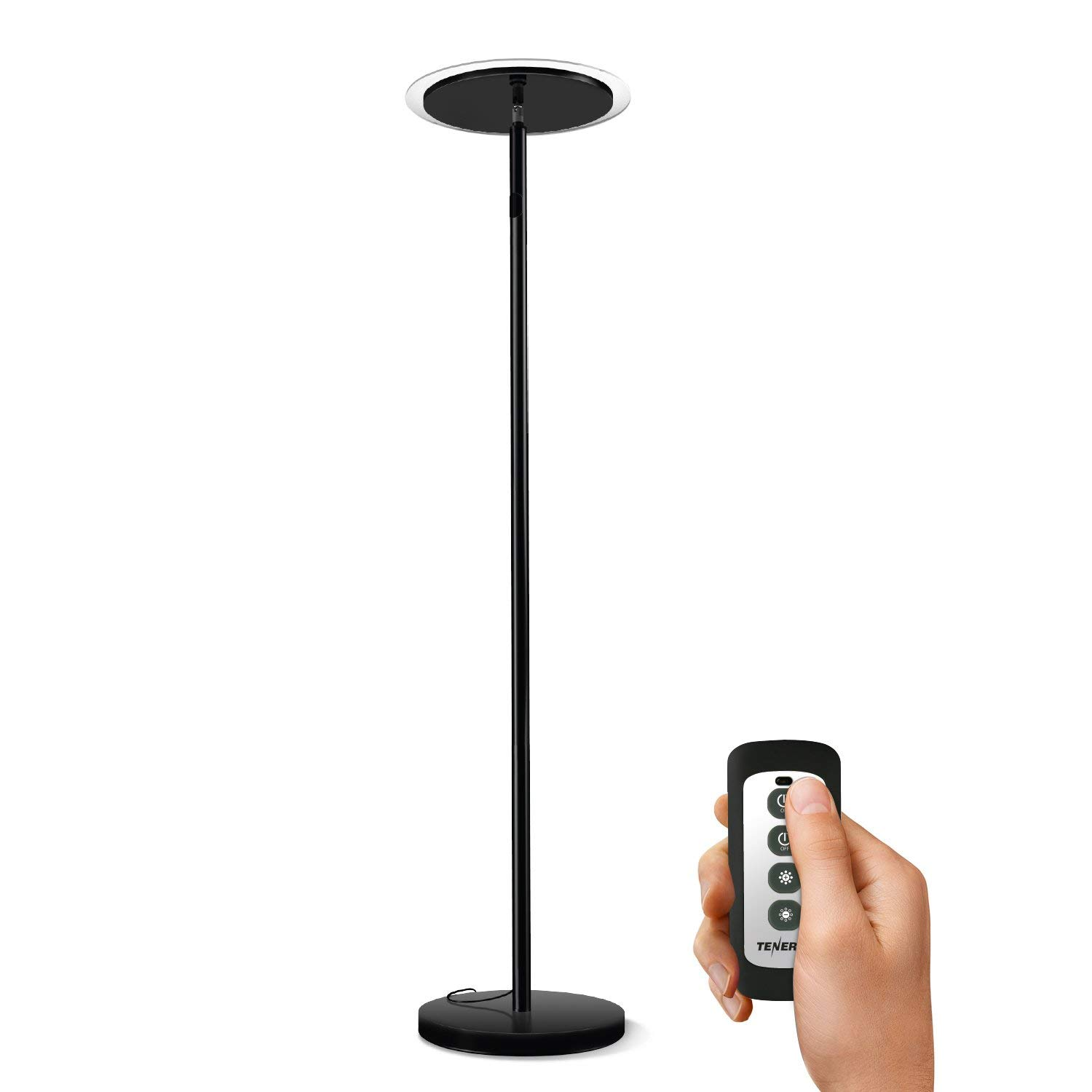 Best Led Floor Lamps Tenergy Torchiere Dimmable Led Floor Lamp Remote