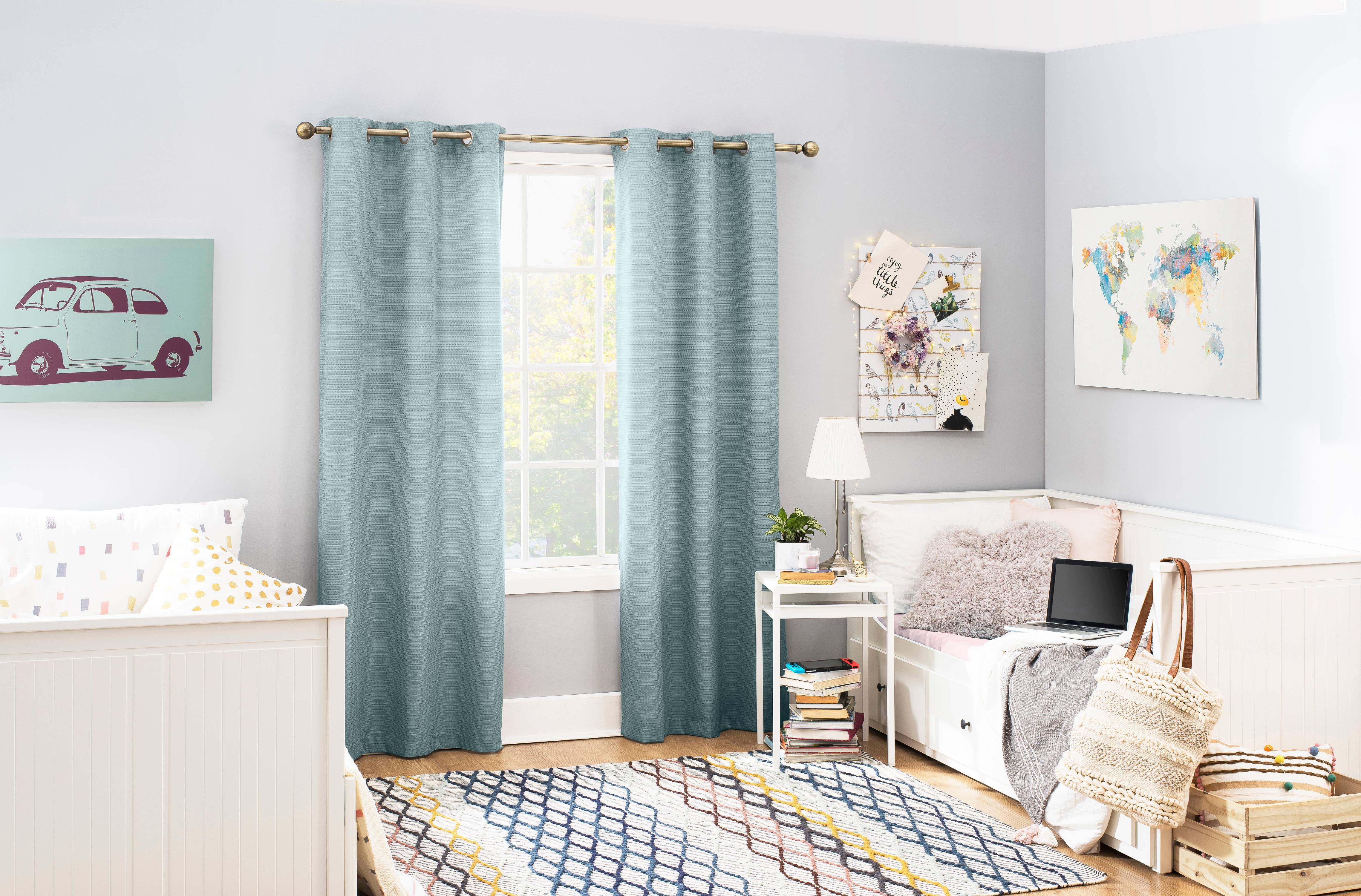 Sun Zero 2 Pack Arlo Textured Thermal Insulated Grommet Curtain Panel Pair Walmart Com Walmart Com
