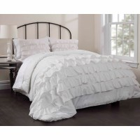 Latitude Ruby Ruffle Bedding Comforter Set - Walmart.com