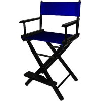 "24"" Director's Chair Black Frame-Navy Blue Canvas ..."