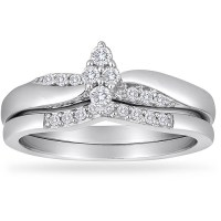 Always & Forever Platinaire 1/4 Carat T.W. Diamond Marquee ...