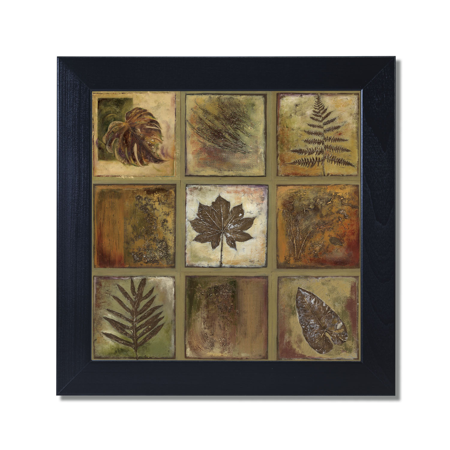 12x12 Poster Leaf Square I Black Framed Art Print Poster 12x12