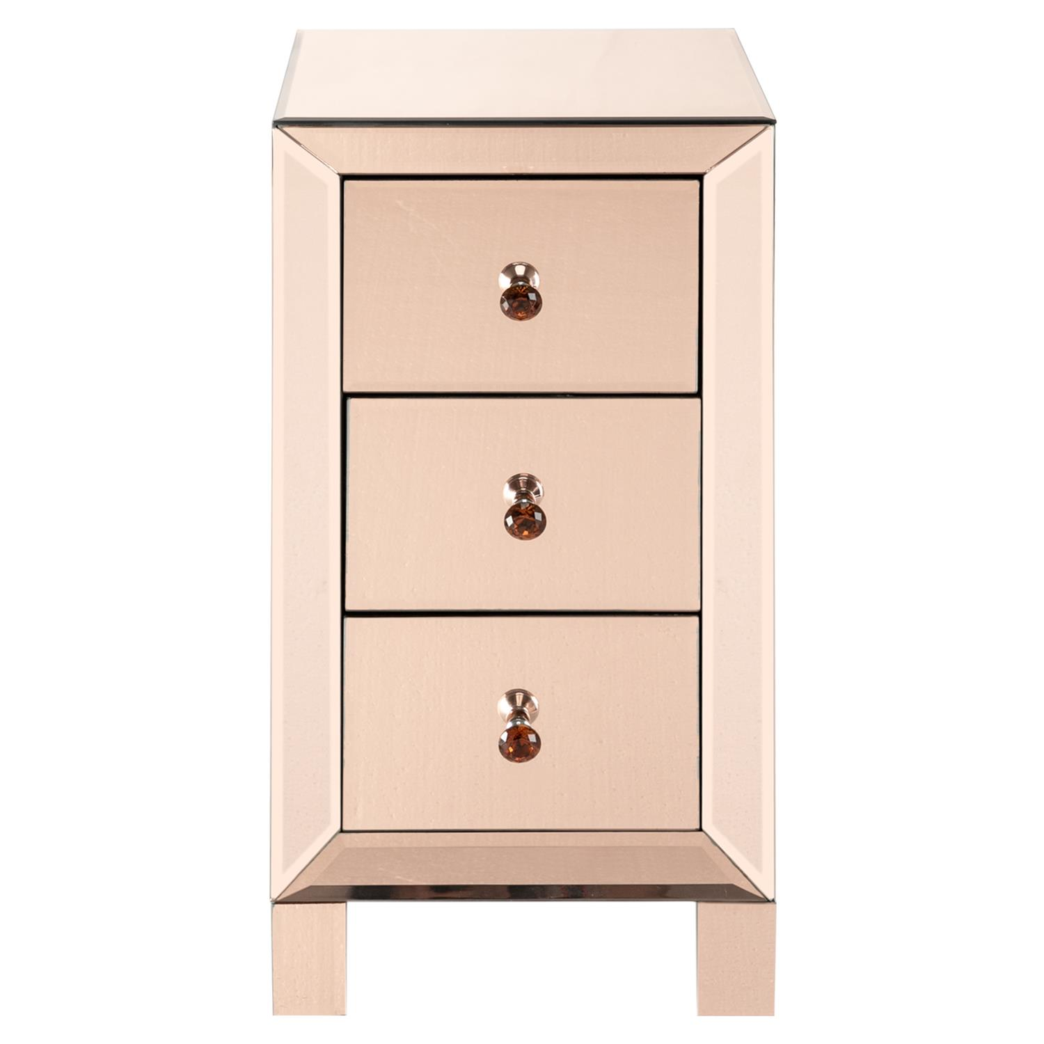 Ktaxon 3 Drawer Mirrored End Table Nightstand Glass Bedside Table Furniture For Bedroom Living Room Champagne Walmart Com Walmart Com
