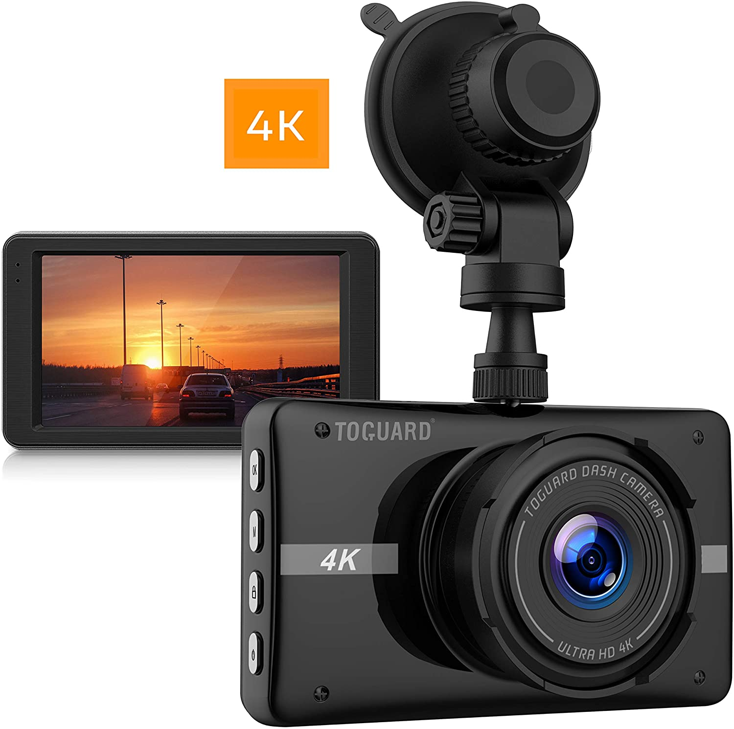 Toguard 4k Dash Cam Ultra Hd Car Dash Camera 3 Lcd 170 Wide Angle Dashboard Camera Recorder With Night Vision 24hs Walmart Canada
