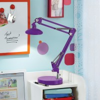 Your Zone Purple Led Desk Lamp - Walmart.com